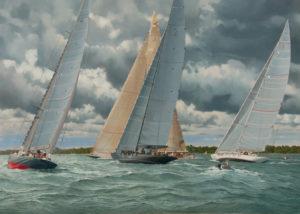 The J Class Short Tacking - J Class Solent Regatta 2012