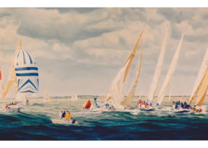 Admirals Cup race in Christchurch Bay 1985