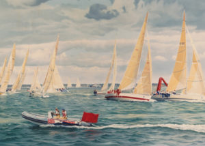Admirals Cup race off Yarmouth Isle of Wight