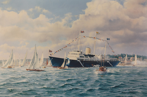 The Royal Yacht Britannia at Cowes Week