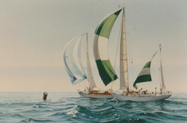 Concordias racing inside Fishers Island - USA
