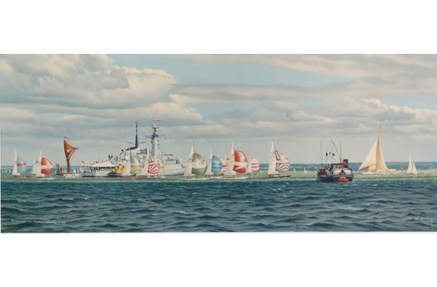Dragons racing during Cowes Week 1989