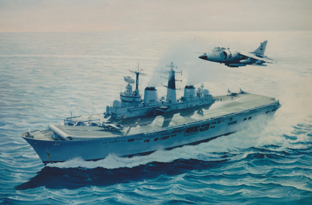 HMS Ark Royal and Harrier