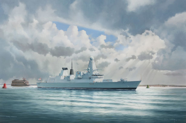 HMS Diamond Type 45 Destroyer