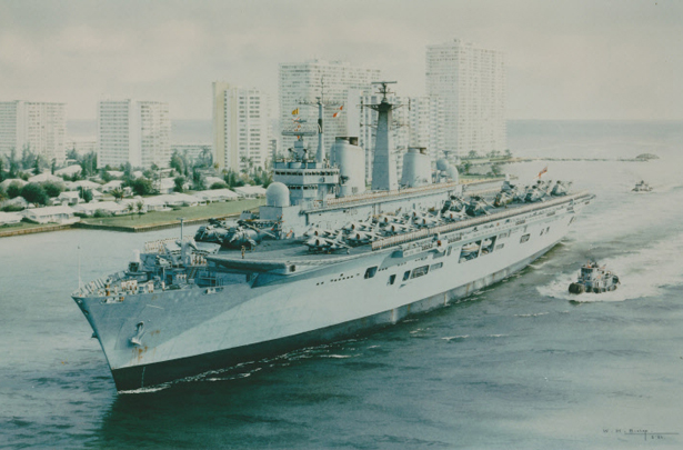 HMS Illustrious entering Fort Lauderdale
