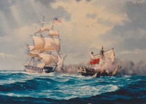 USS Constitution v HMS Java 1813