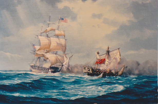 USS Constitution v HMS Java 1813